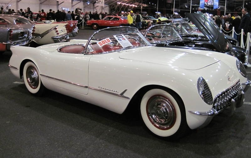 Polo White 1954 GM Chevrolet Corvette