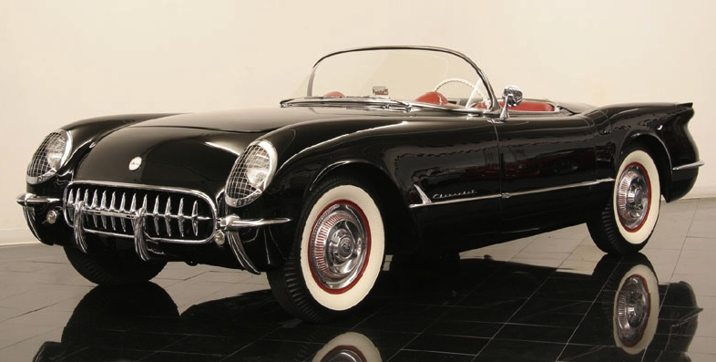 Black 1954 GM Corvette