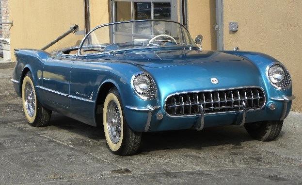 Pennant Blue 1954 GM Chevrolet Corvette