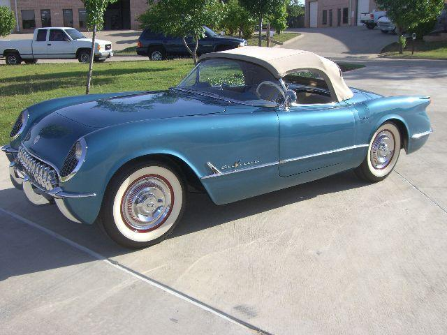 Pennant Blue 1955 GM Chevrolet Corvette