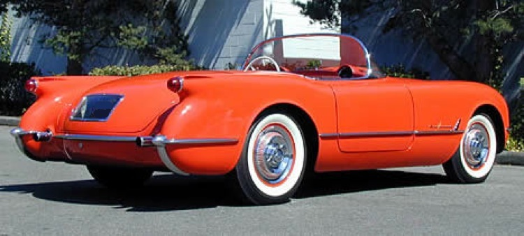 Gypsy Red 1955 GM Chevrolet Corvette
