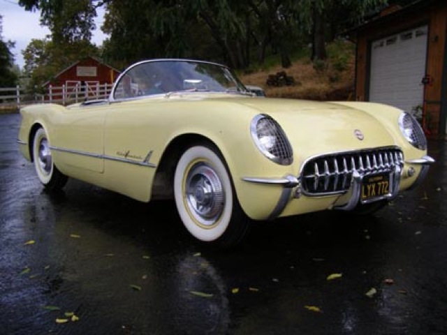Harvest Gold 1955 GM Chevrolet Corvette