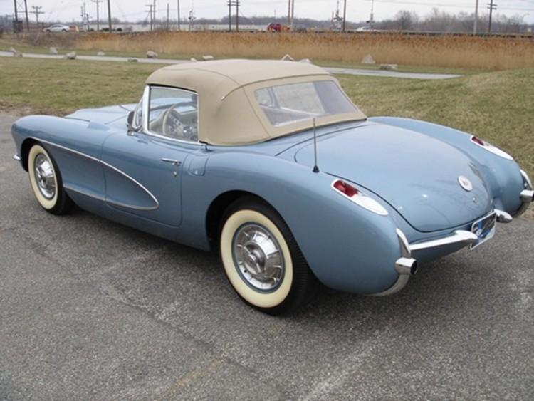 Arctic Blue 1956 GM Chevrolet Corvette