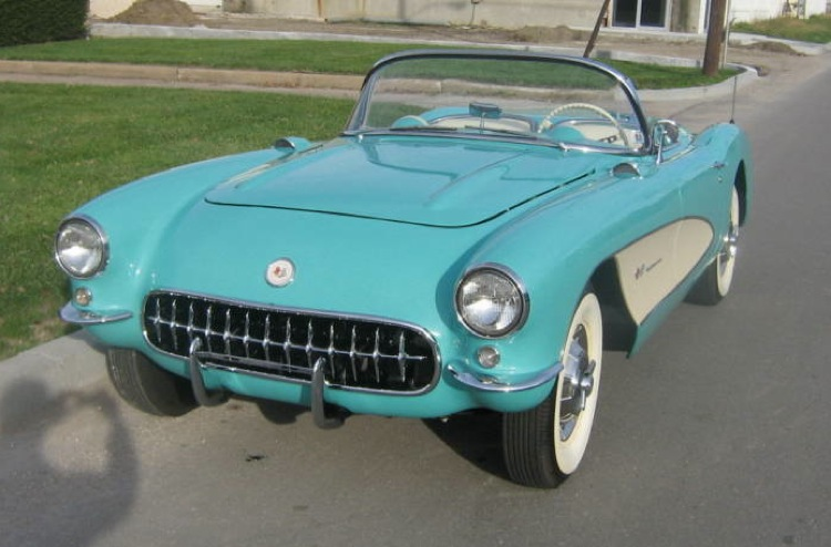 Cascade Green 1957 GM Corvette