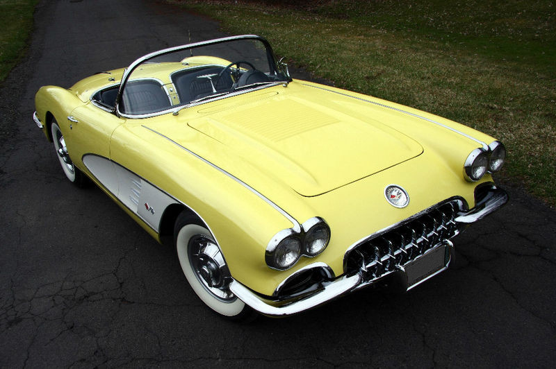 Panama Yellow 1958 GM Chevrolet Corvette