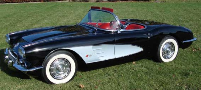 Tuxedo Black 1960 GM Chevrolet Corvette
