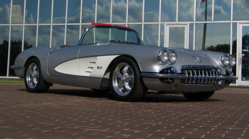 Sateen Silver 1960 GM Chevrolet Corvette