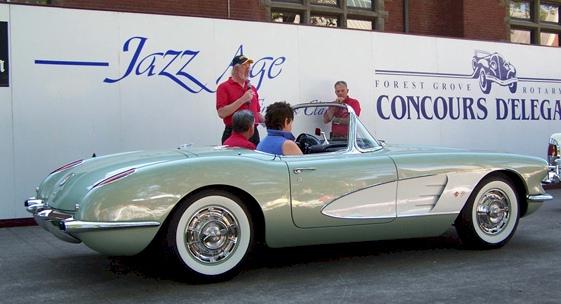Cascade Green 1960 GM Chevrolet Corvette Convertible