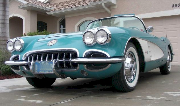 Tasco Turquoise 1960 GM Chevrolet Corvette Convertible