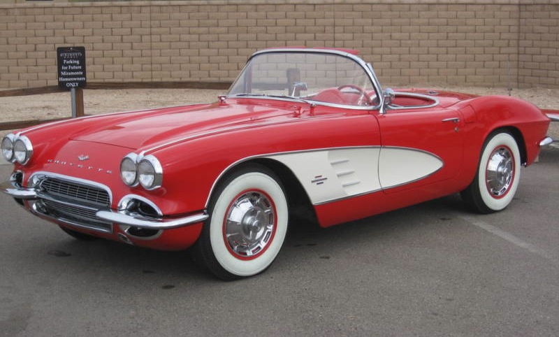 Roman Red 1961 GM Chevrolet Corvette