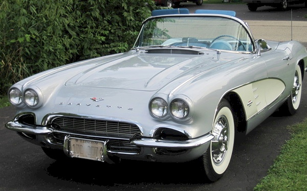 Sateen Silver 1961 GM Chevrolet Corvette Convertible