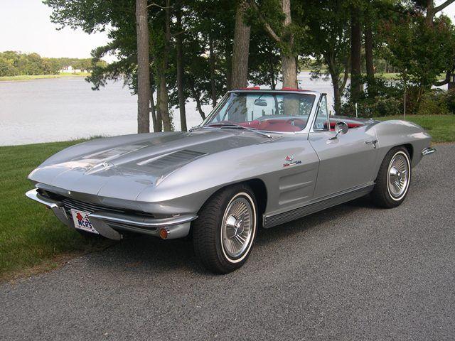 Sebring Silver 1963 GM Chevrolet Corvette