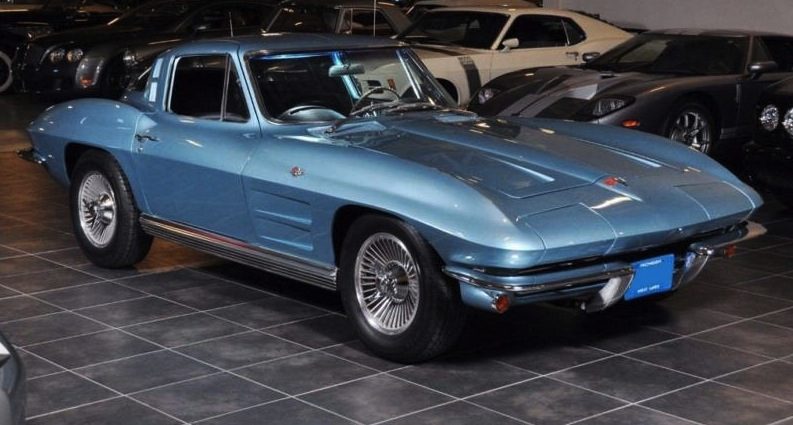 Silver Blue 1964 Gm Chevrolet Corvette