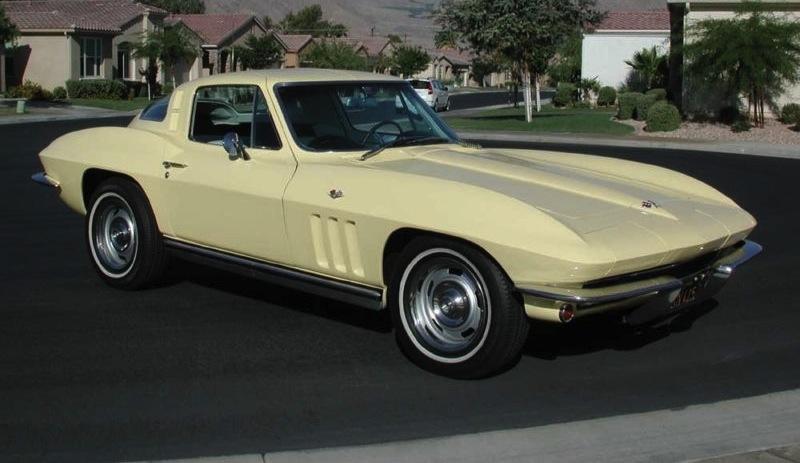 Goldwood Yellow 1965 GM Chevrolet Corvette