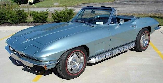 Elkhart Blue 1967 GM Chevrolet Corvette Convertible