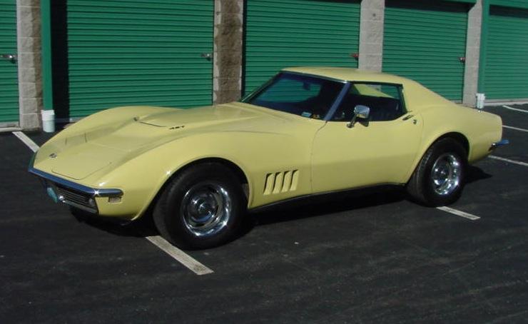 Safari Yellow 1968 GM Chevrolet Corvette