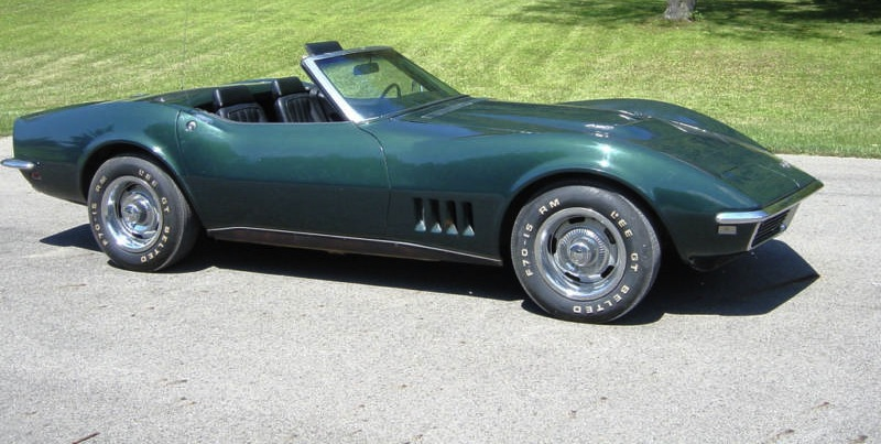 British Green 1968 GM Chevrolet Corvette