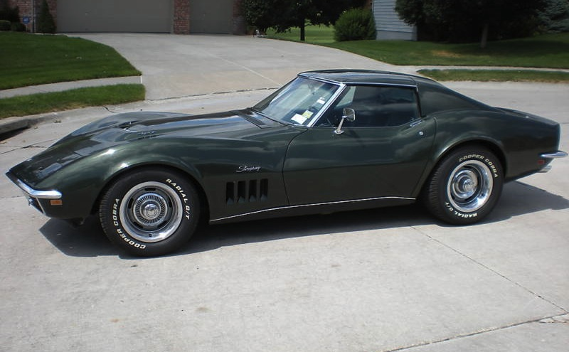 Fathom Green 1969 GM Chevrolet Corvette