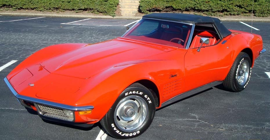 Monza Red 1970 GM Chevrolet Corvette