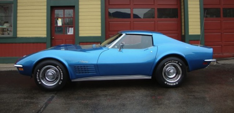 Mulsanne Blue 1971 GM Chevrolet Corvette