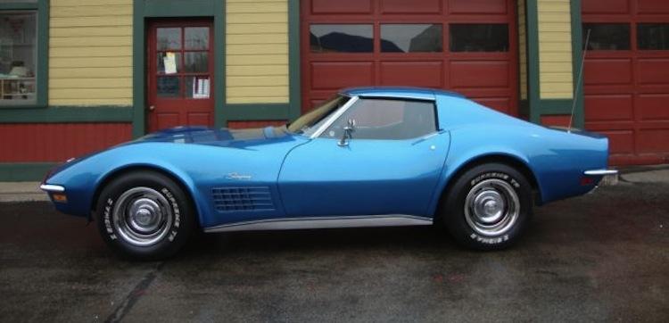 Mulsanne Blue 1971 GM Chevrolet Corvette