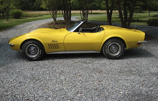 Sunflower Yellow 1971 GM Chevrolet Corvette