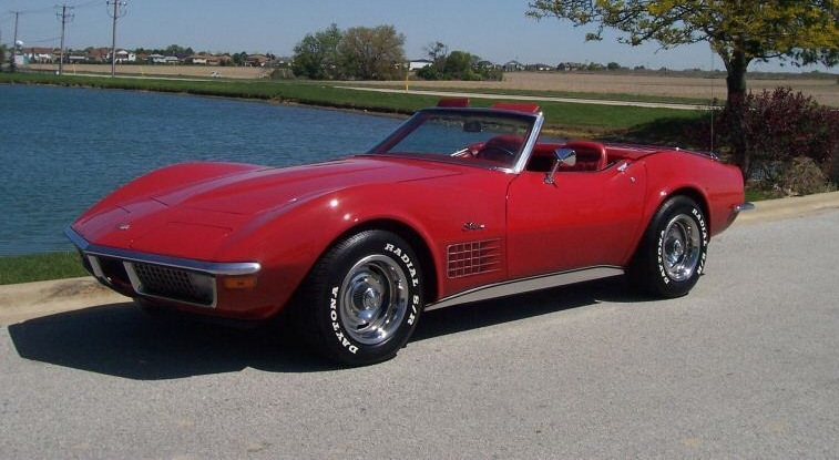 Mille Miglia Red 1971 GM Chevrolet Corvette