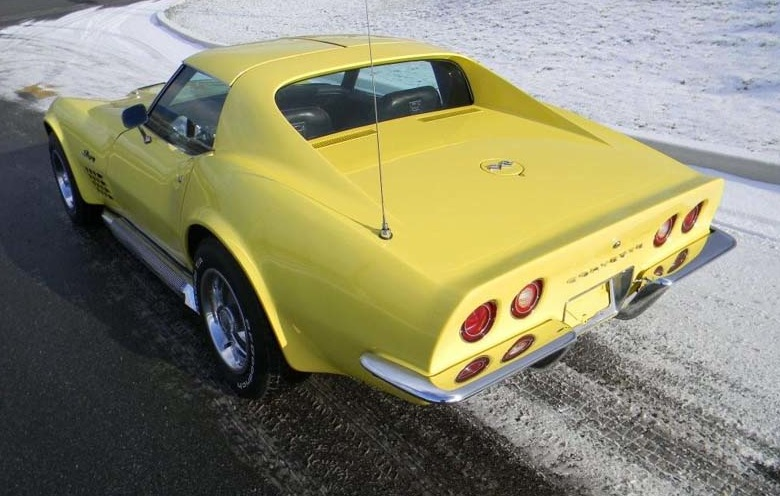 Sunflower Yellow 1972 GM Chevrolet Corvette