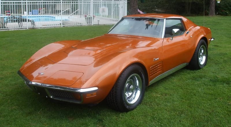 Ontario Orange 1972 GM Corvette