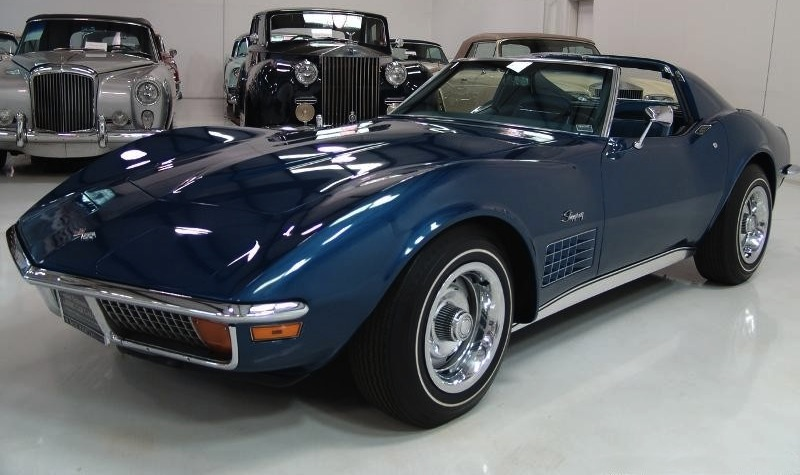 Targa Blue 1972 GM Chevrolet Corvette
