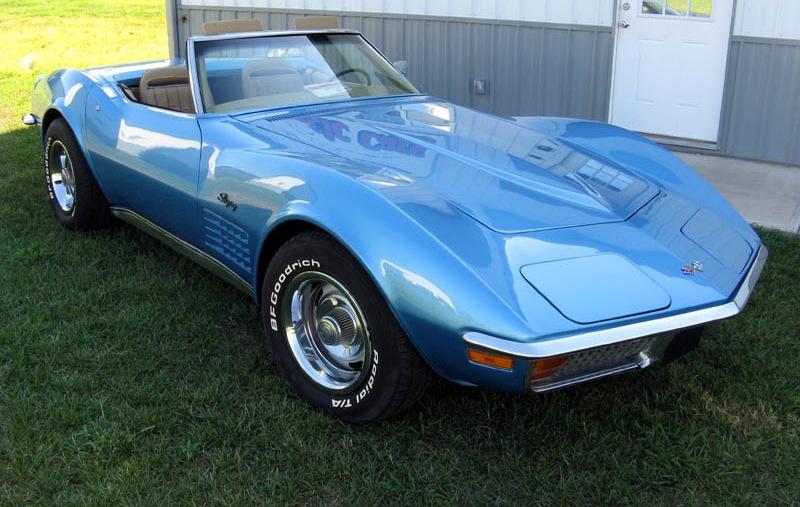 Bryar Blue 1972 GM Chevrolet Corvette