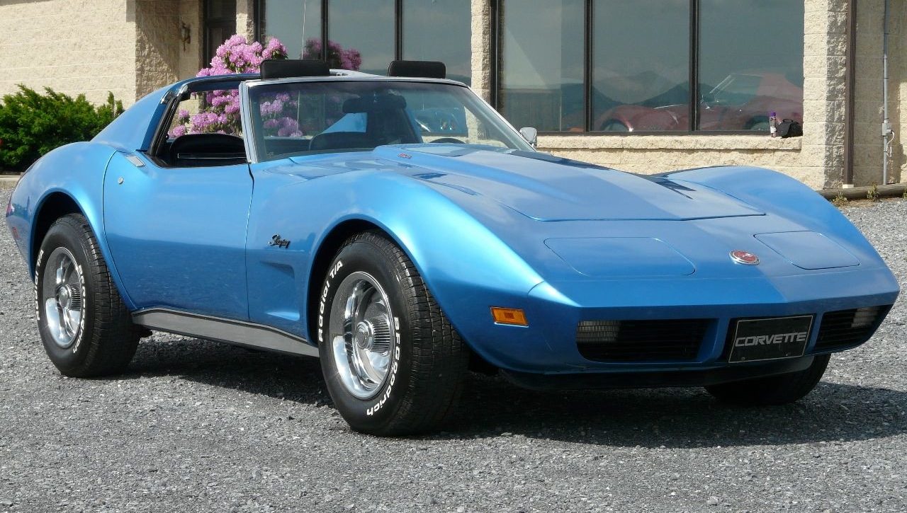 Medium Bright Blue 1973 GM Chevrolet Corvette