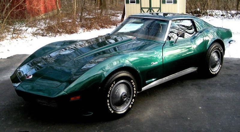 Blue Green 1973 GM Chevrolet Corvette