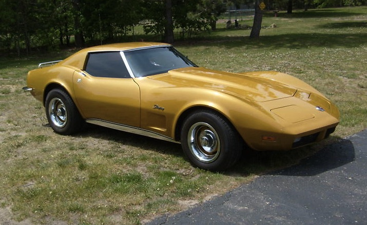 Yellow 1973 GM Chevrolet Corvette