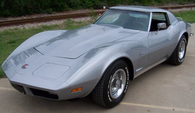 Silver 1973 GM Chevrolet Corvette