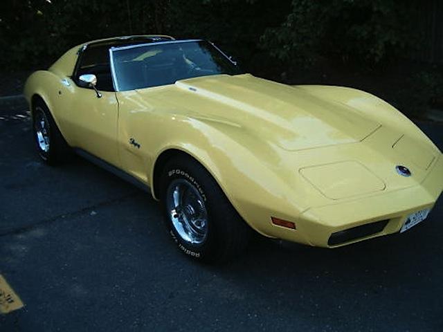 Bright Yellow 1974 GM Chevrolet Corvette