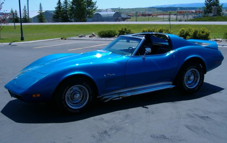 Medium Blue 1974 GM Chevrolet Corvette
