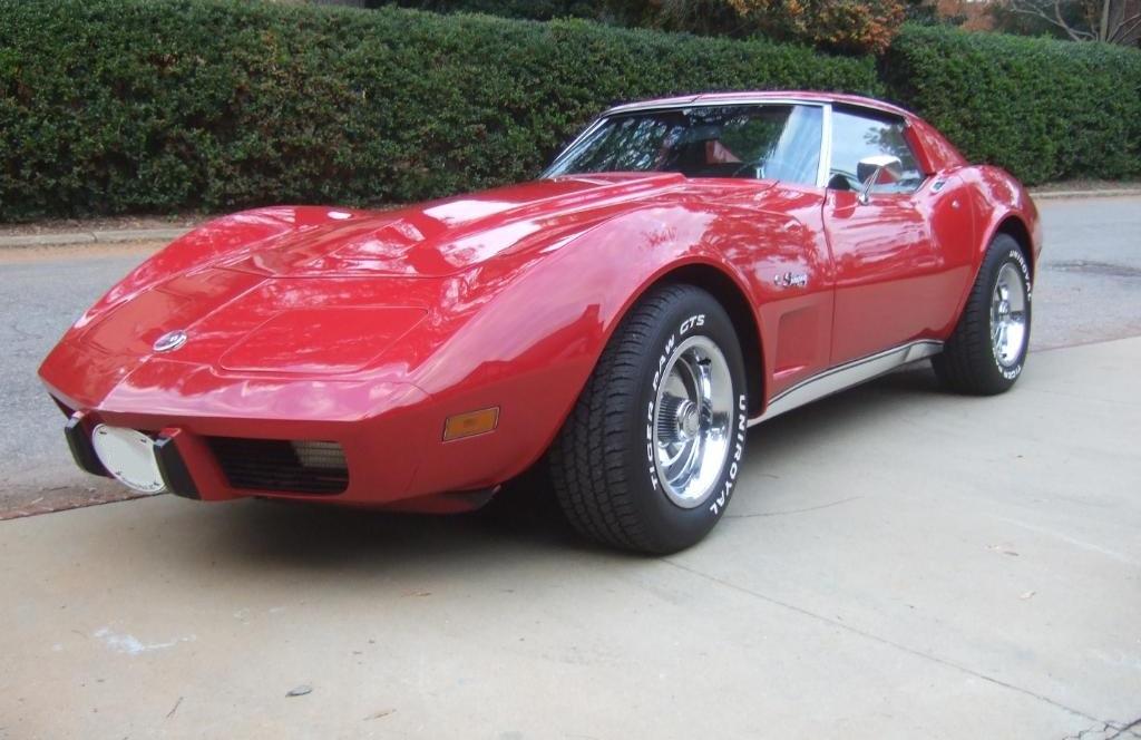 Mille Miglia Red 1975 GM Chevrolet Corvette