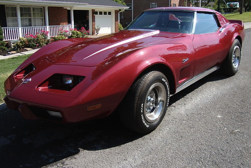Dark Red 1975 GM Chevrolet Corvette