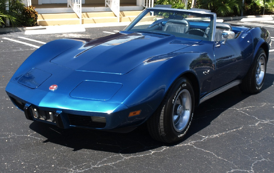 Bright Blue 1975 GM Chevrolet Corvette