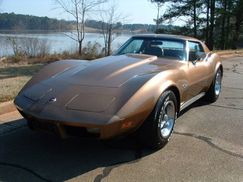 Medium Saddle 1975 GM Chevrolet Corvette