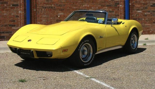 Bright Yellow 1975 GM Chevrolet Corvette