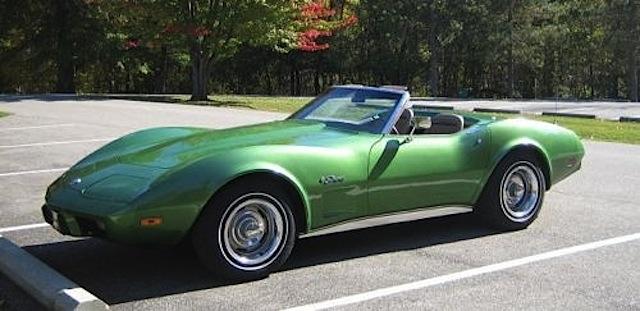 Bright Green 1975 GM Chevrolet Corvette