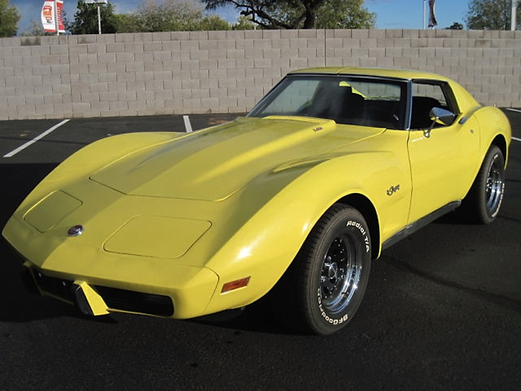 Bright Yellow 1976 GM Chevrolet Corvette
