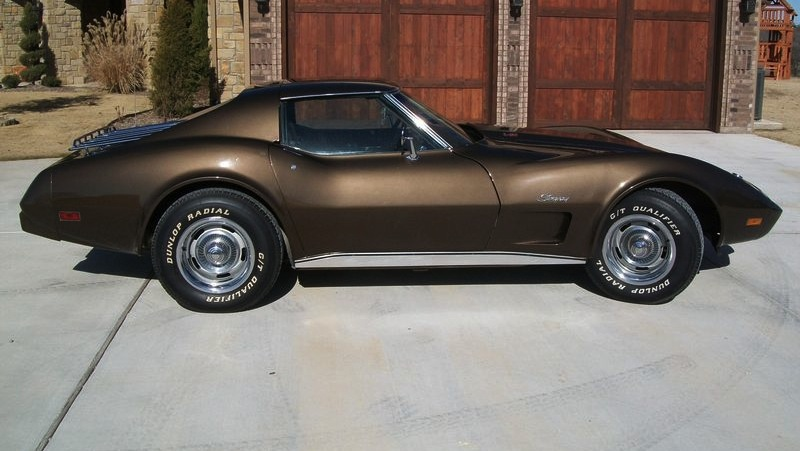 Dark Brown 1976 GM Chevrolet Corvette