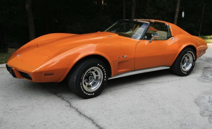 Orange 1977 GM Chevrolet Corvette