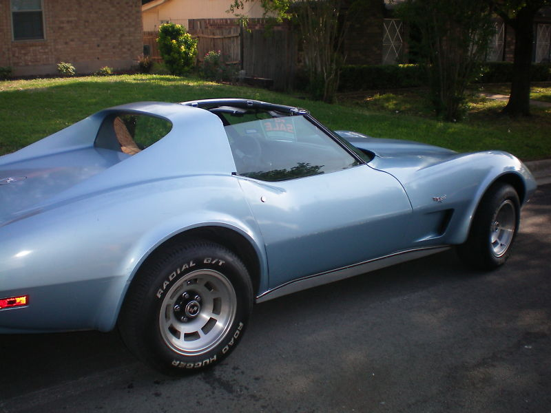 Light Blue 1977 GM Chevrolet Corvette