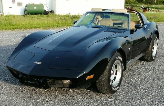 Black 1977 GM Corvette