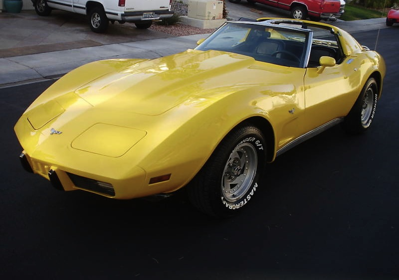 Yellow 1977 GM Chevrolet Corvette