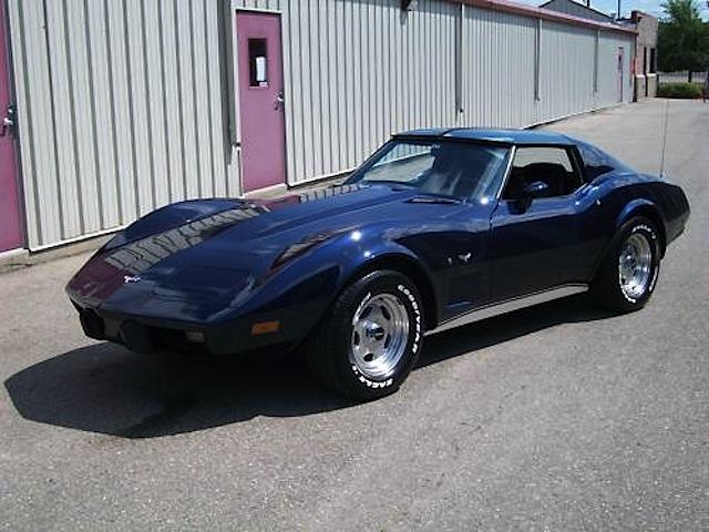 Dark Blue 1977 GM Chevrolet Corvette